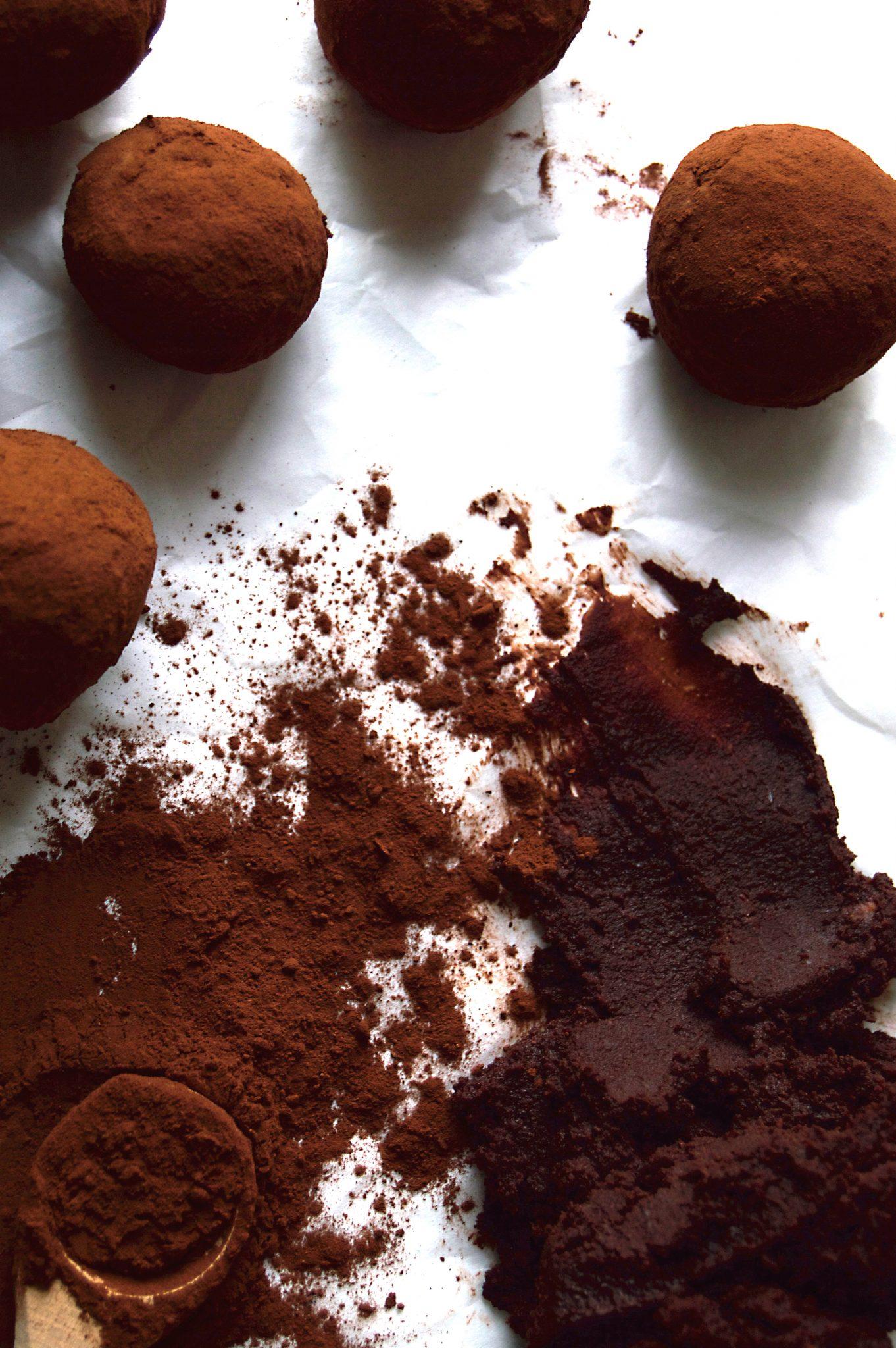 Vegan Orange Chocolate Truffles