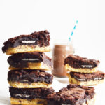 Vegan Triple Layered Ooey-Gooey Oreo Brownies