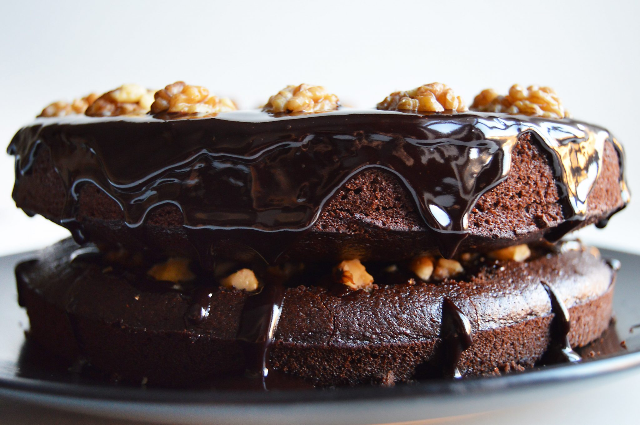 Vegan Chocolate Walnut Cake (+ Video) - My Vibrant Kitchen