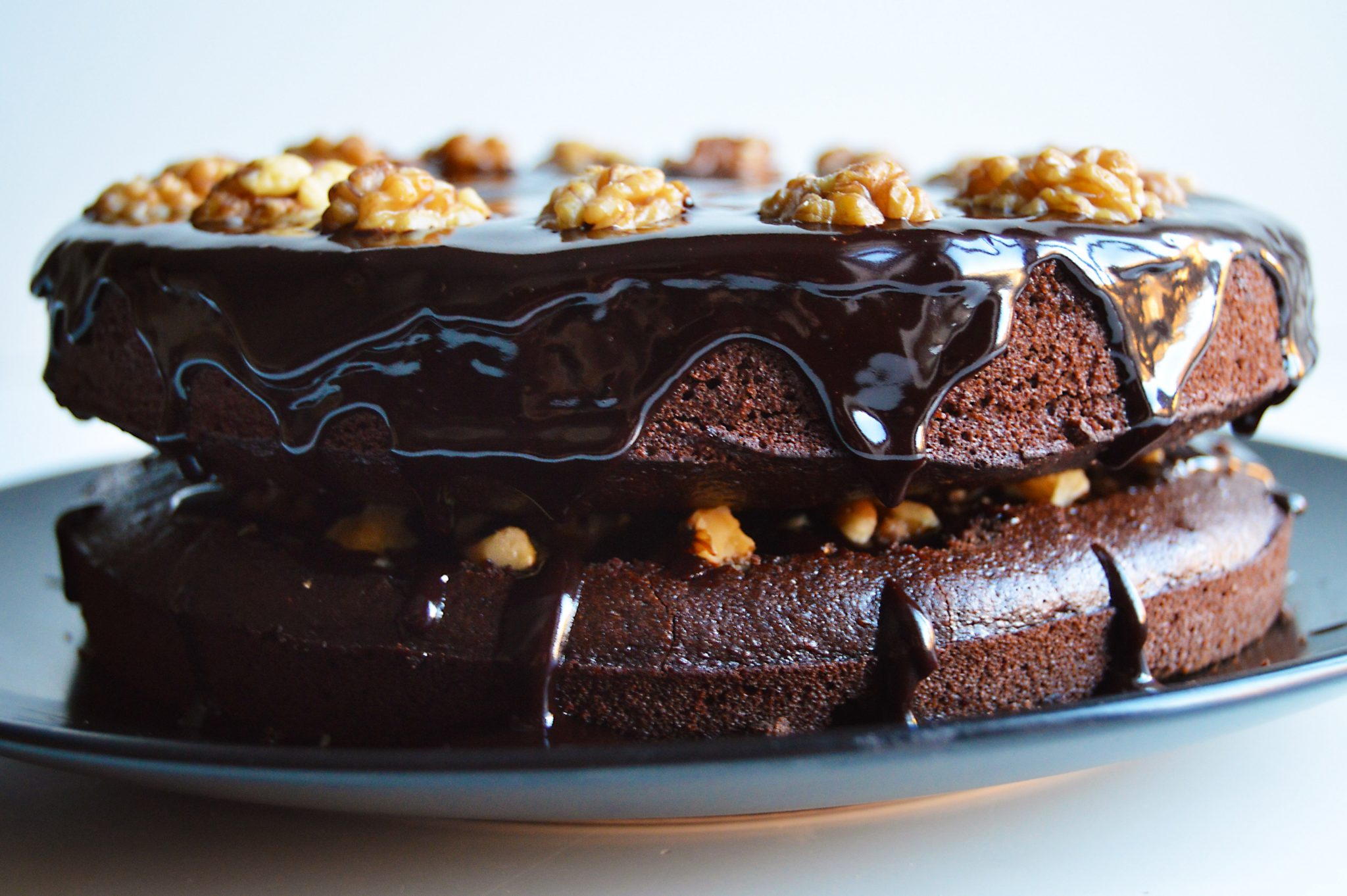 Banana Chocolate And Walnut Cake