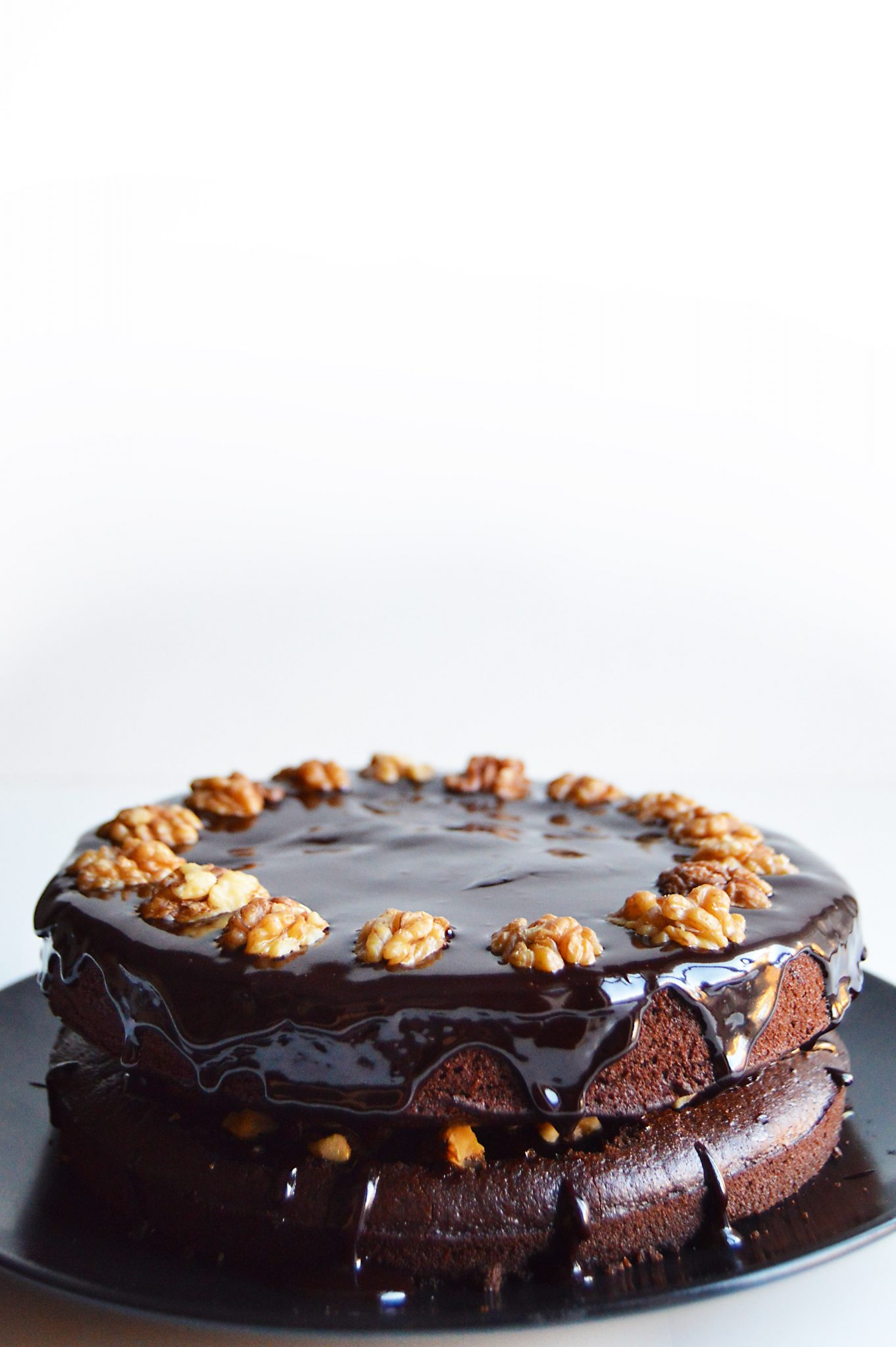 Vegan Chocolate Walnut Cake