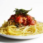 Creamy Vegan Tomato Sage Spaghetti