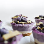 Vegan Blueberry Vanilla Cheesecake Cups (with blueberry jam filling)