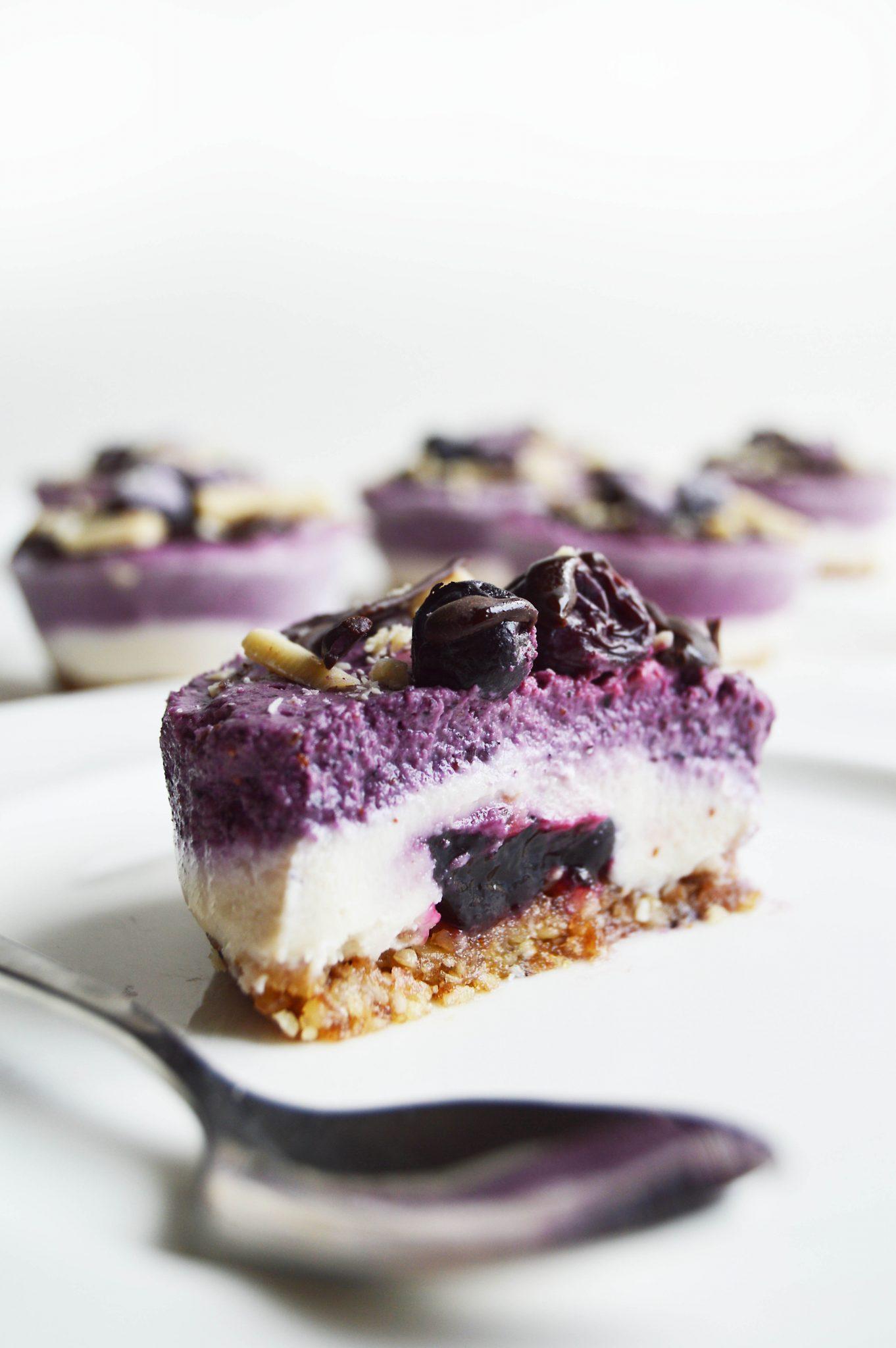 Vegan Blueberry Vanilla Cheesecake Cups