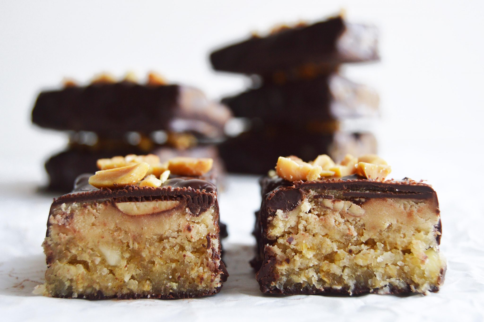 Vegan Nut & Caramel Chocolate Bars
