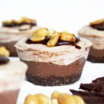 Vegan Chocolate & Peanut Butter Cheesecake Cups