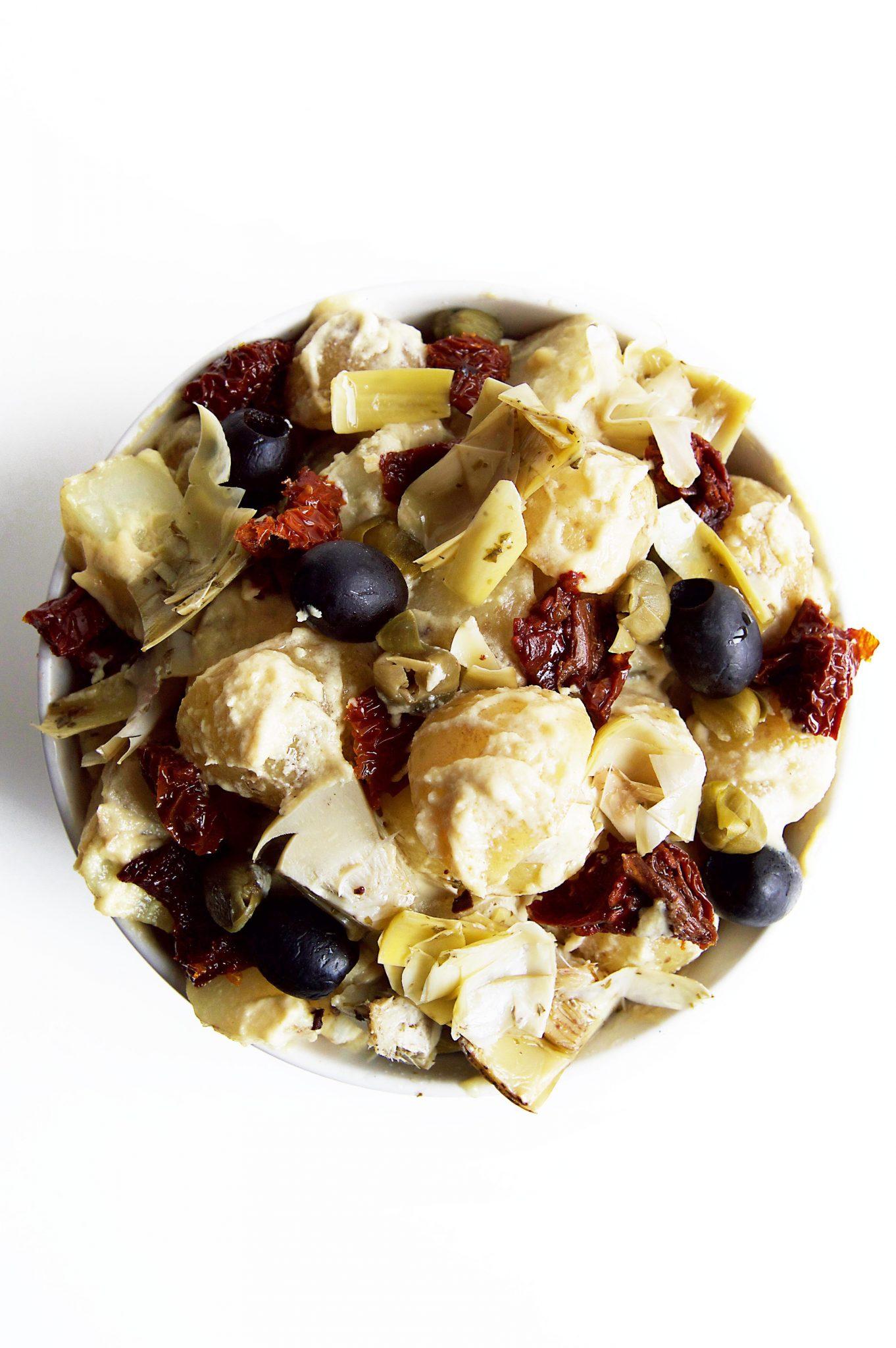 Vegan Baby Potato Salad With Tahini Dijon Mustard Dressing (AKA The Best Damn Potato Salad)
