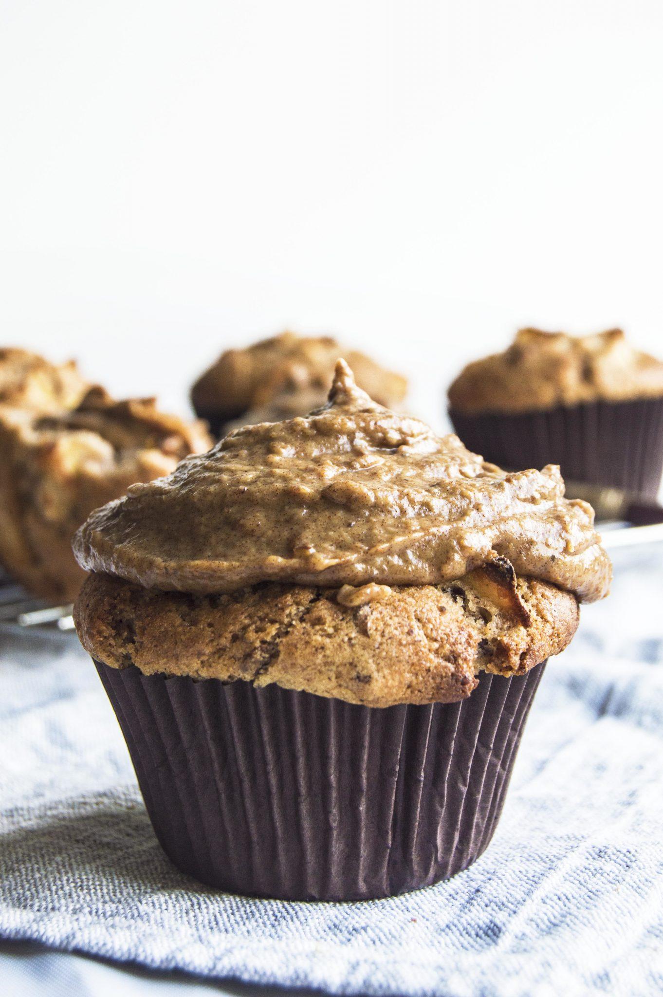Vegan Toffee Apple Breakfast Muffins