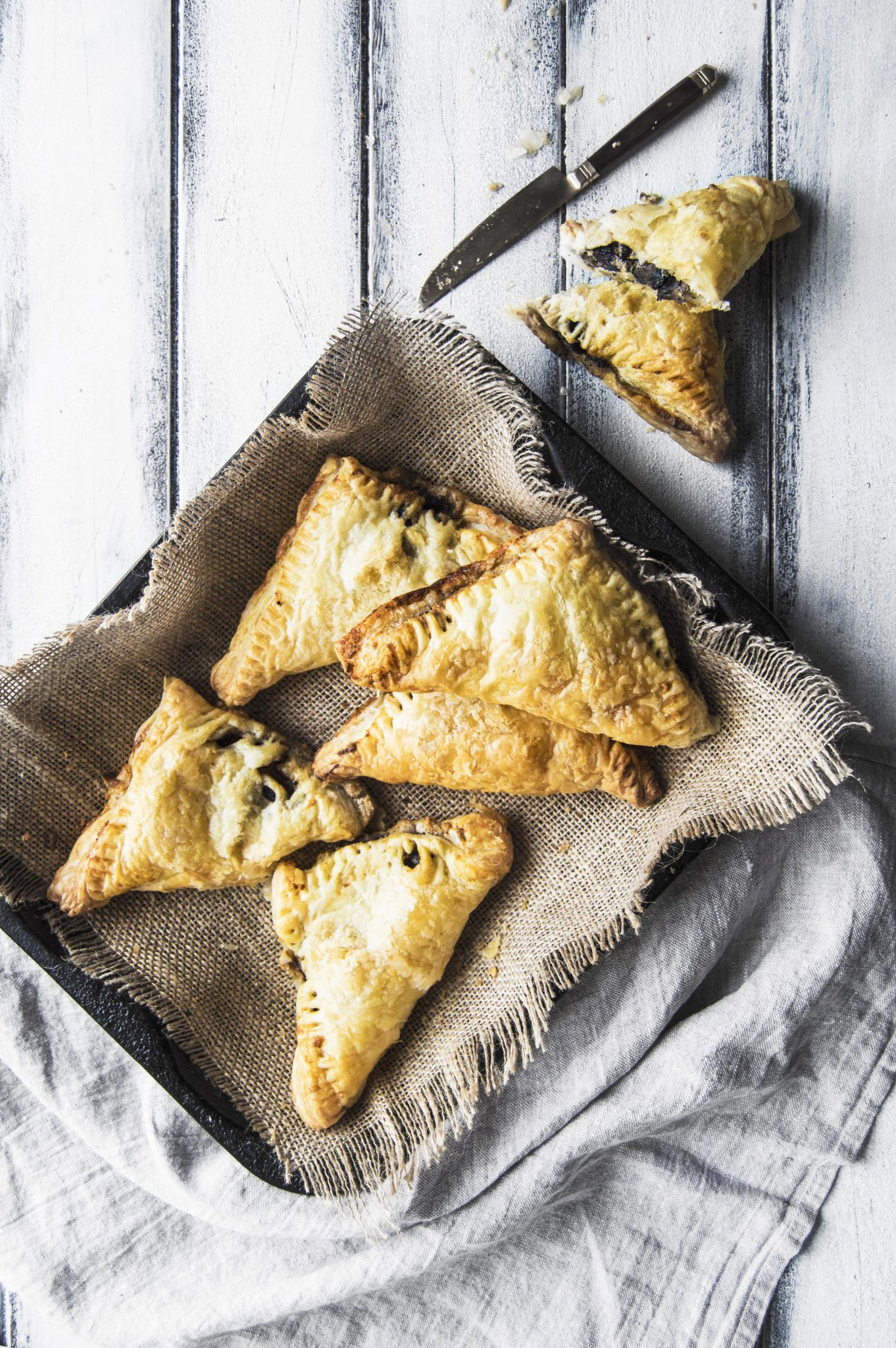 Vegan Sage Mushroom Turnovers With Almond White Wine Cream