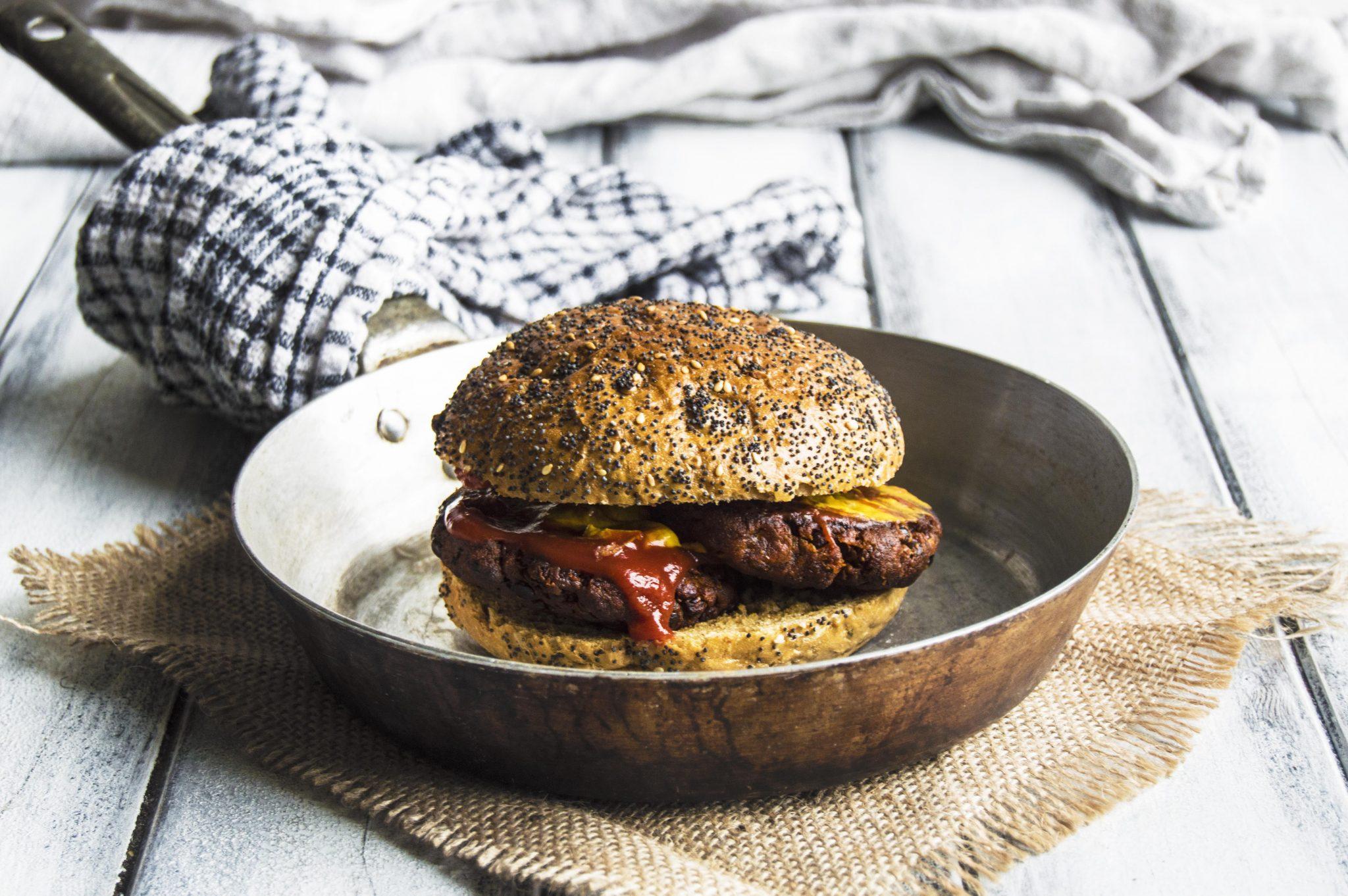 Vegan Spiced Lentil Burgers