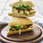 Fried Tofu 'Chicken' Strip Sandwich With Sweet Mustard Sauce