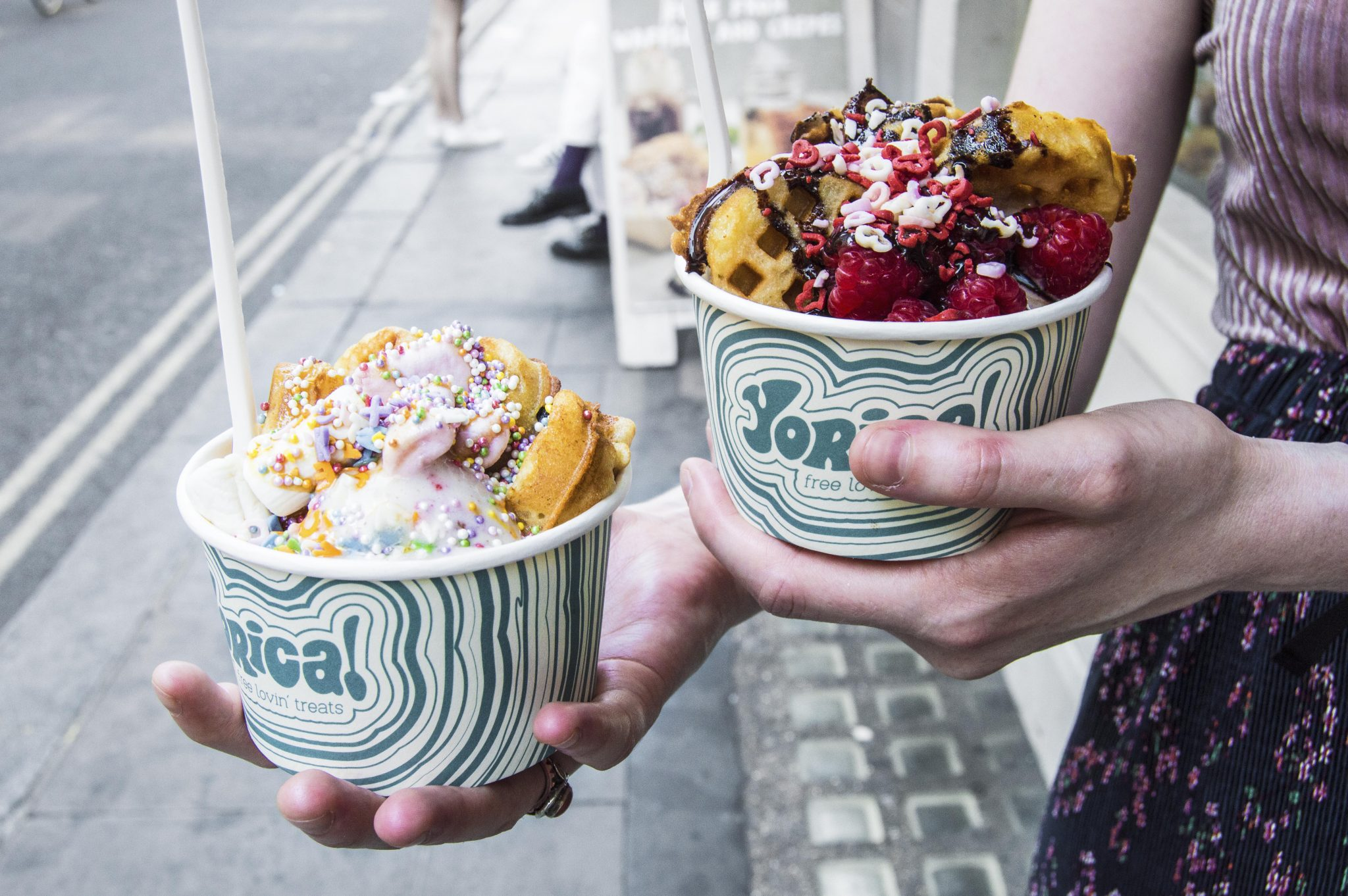 A vegan in London: Ice Cream & Waffles at Yorica