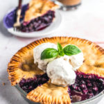 Vegan Blueberry Basil Pie