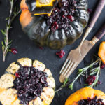 Vegan Festive Black Risotto Stuffed Pumpkins