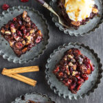 Vegan Festive Brownies With Pecans, Cranberries & Salted Caramel