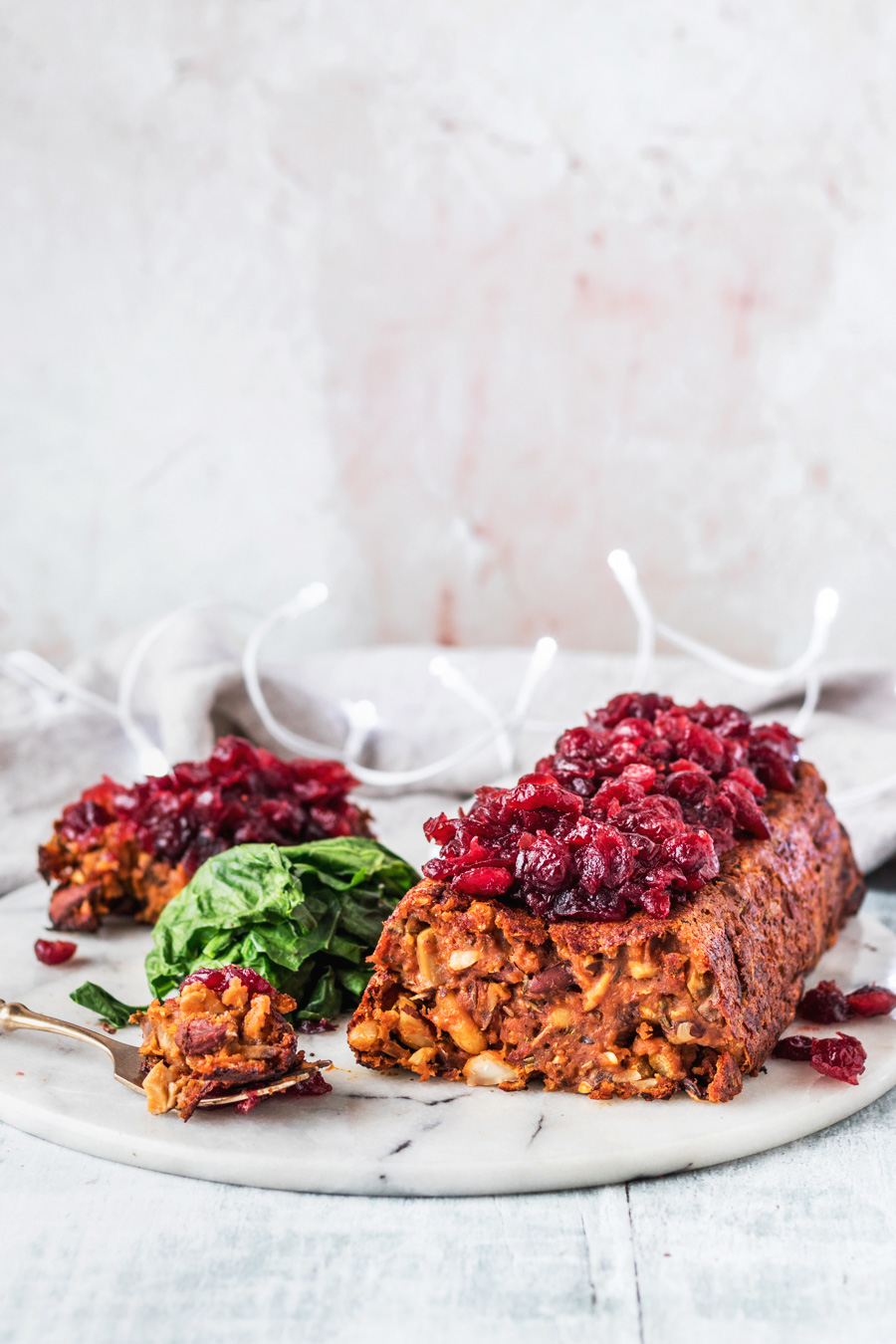 Vegan Red Lentil Nut Roast With Hot Cranberries