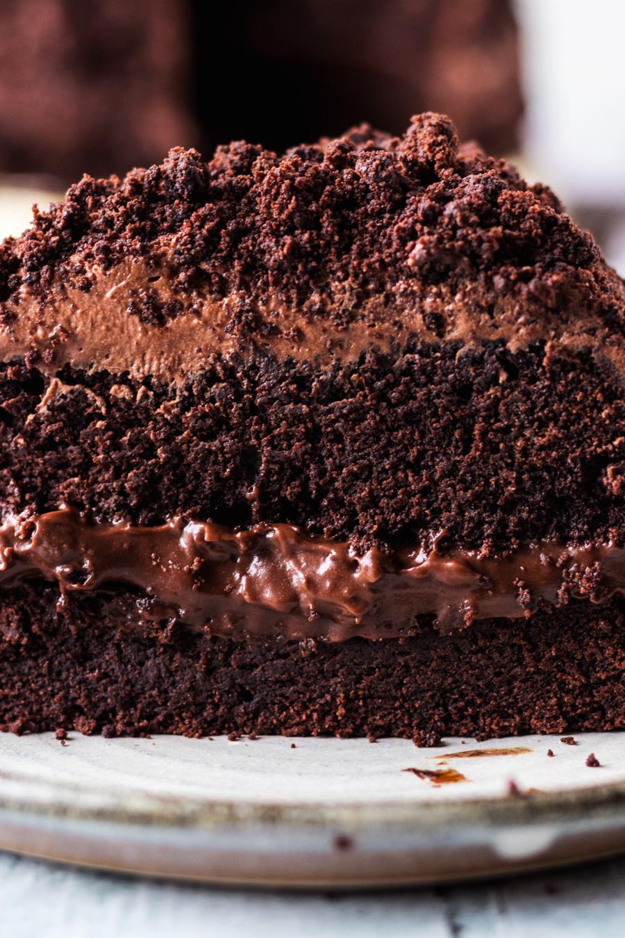 Vegan Brooklyn Chocolate Blackout Cake