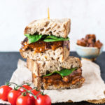 Vegan Buffalo Tofu Chicken Sandwich