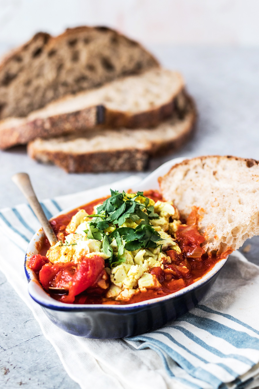 Vegan Shakshuka With Scrambled Tofu