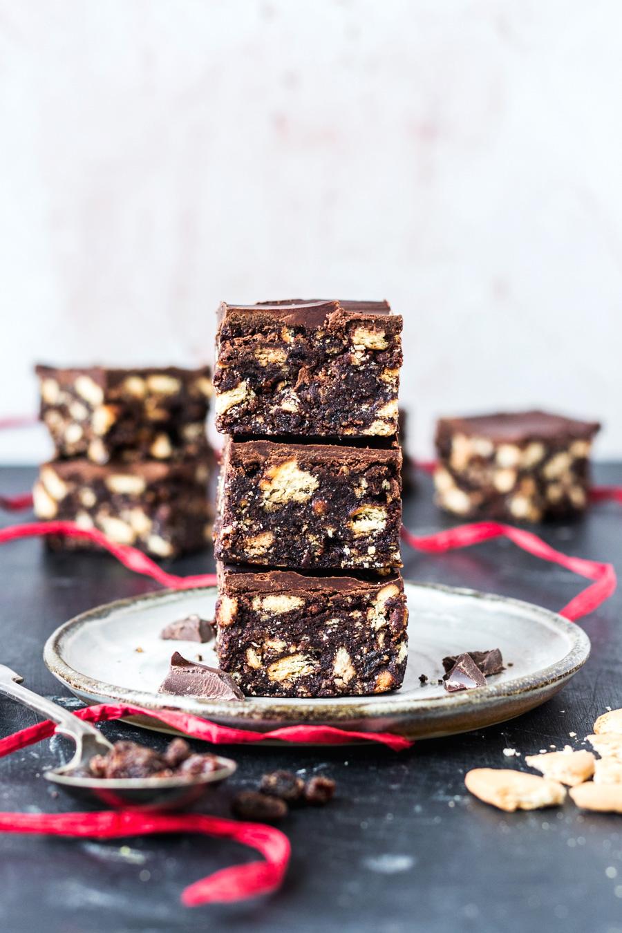 Vegan Tiffins AKA Chocolate Biscuit Fridge Cake