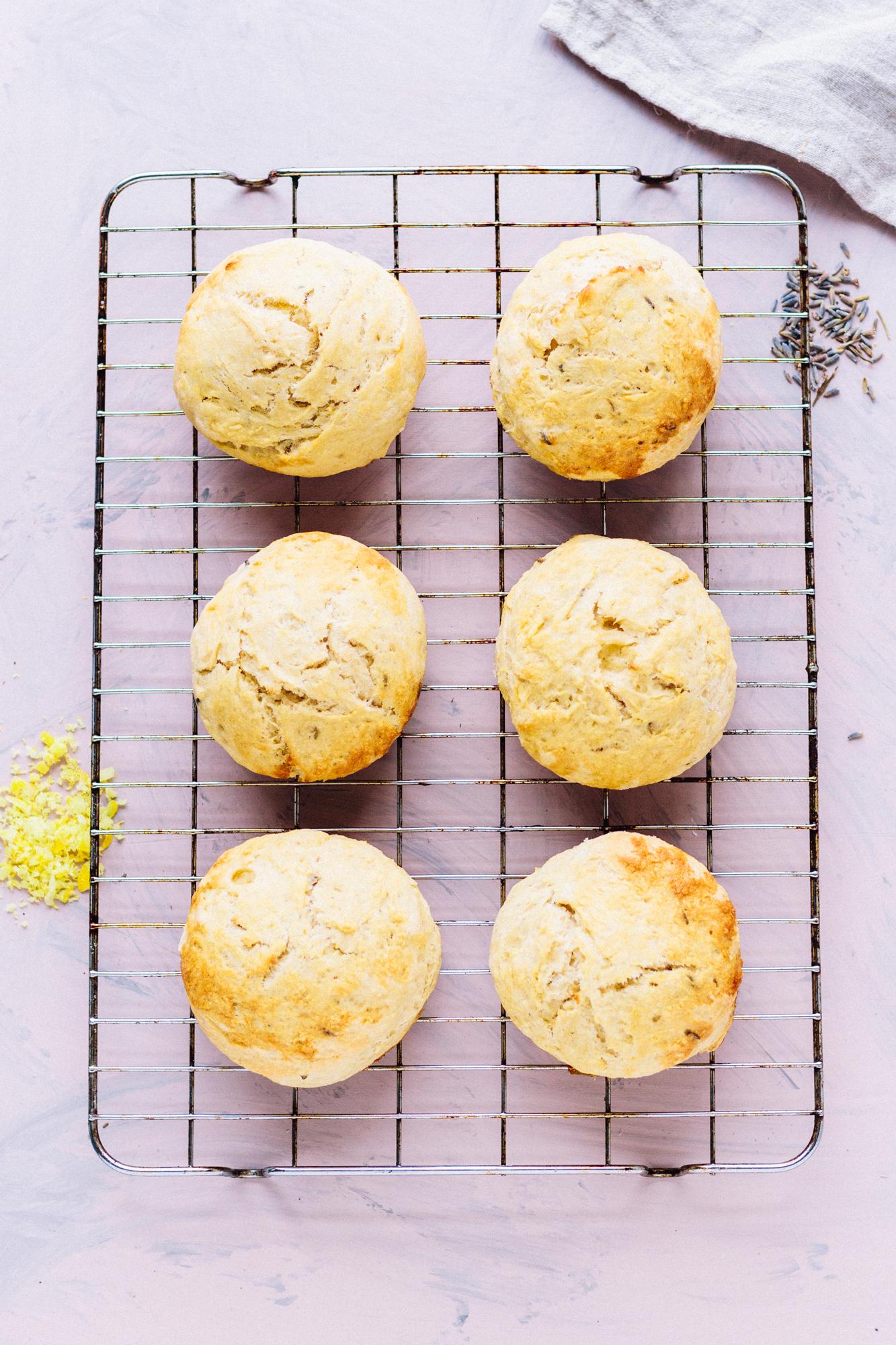 Vegan Lavender Lemon Scones