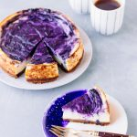 Vegan Baked Lemon Blueberry Cheesecake (nut free & high in protein)