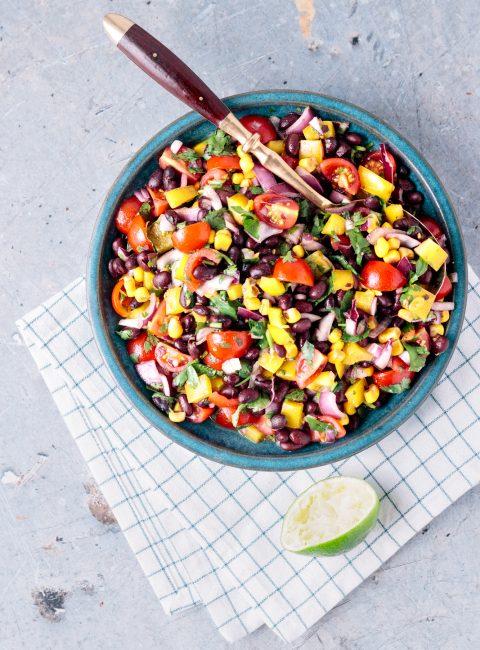 Vegan Loaded Black Bean Salad