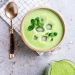 Creamy Vegan Pea Mint Soup