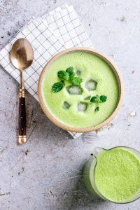 Creamy Vegan Pea Mint Soup